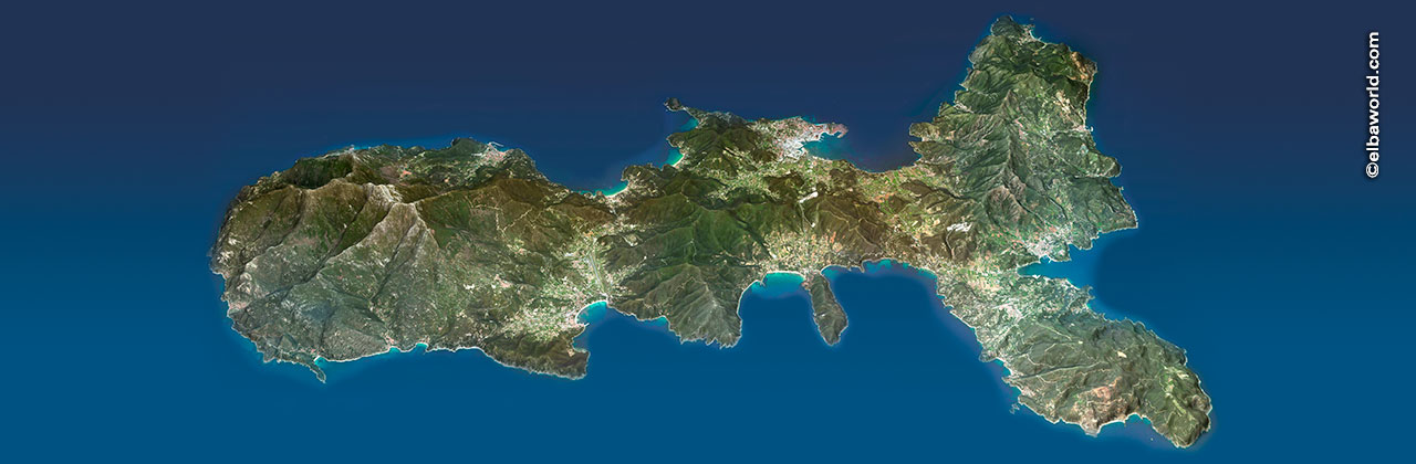 The geography of Elba Island